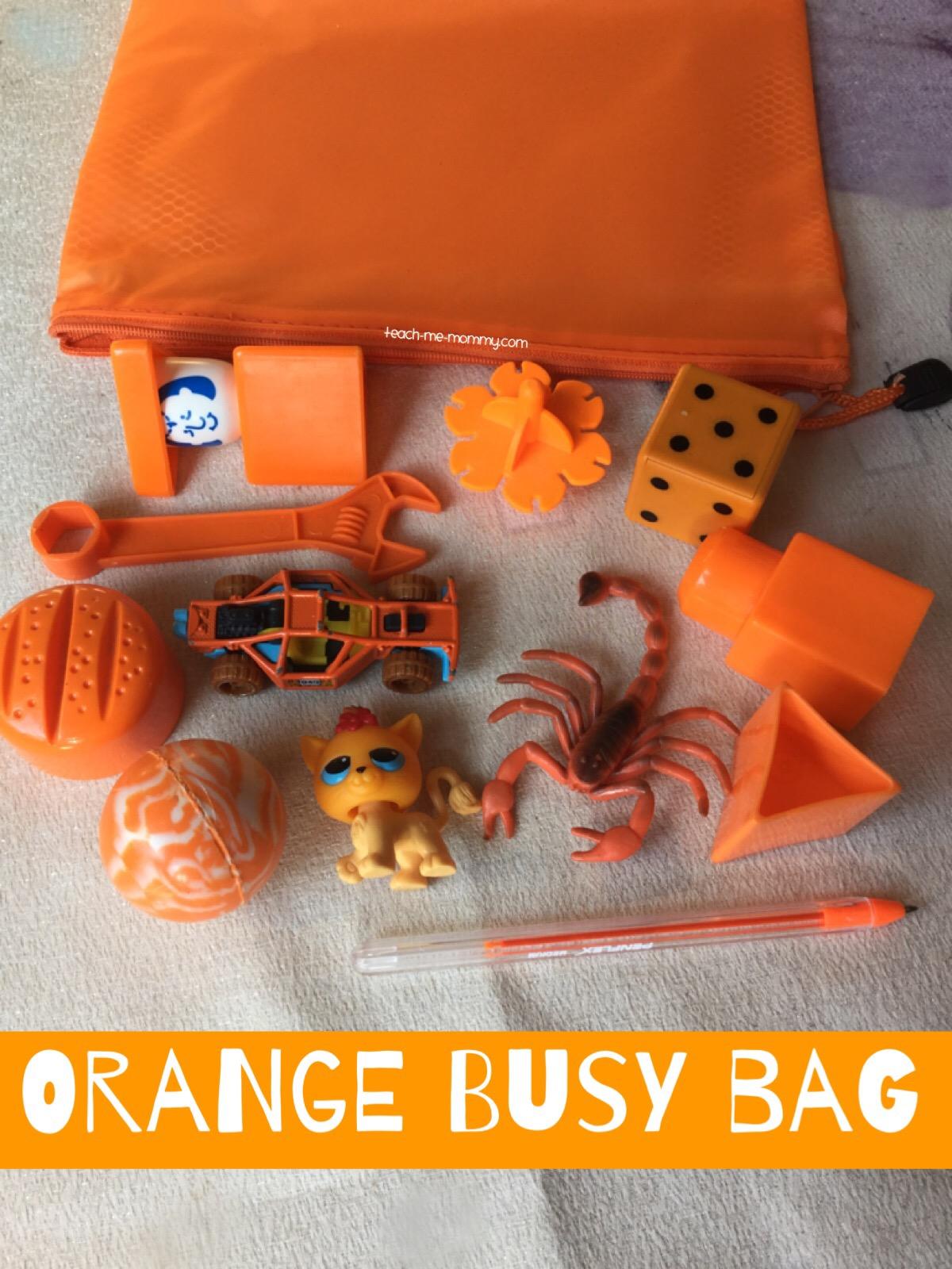 orange busy bag