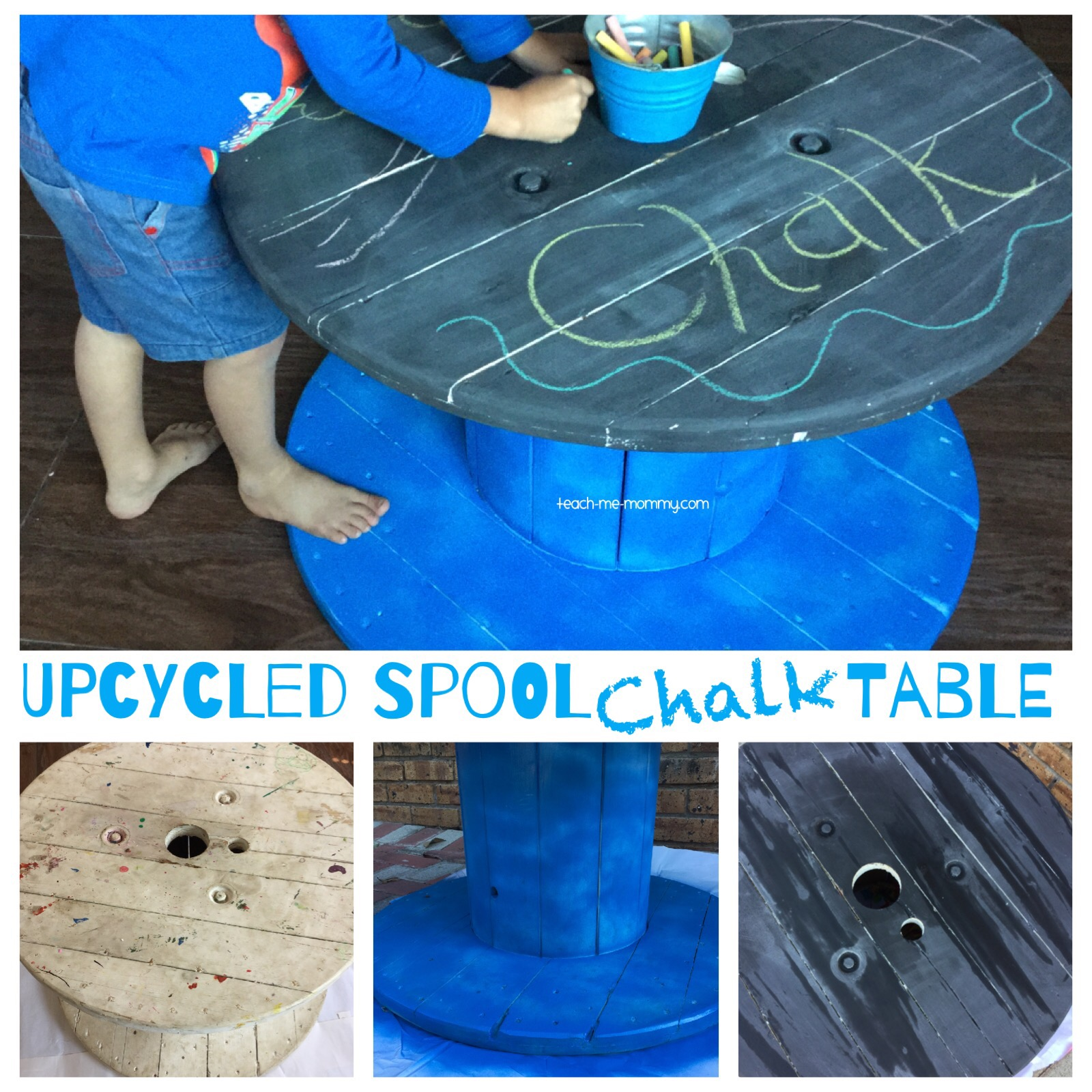 upcycled spool table