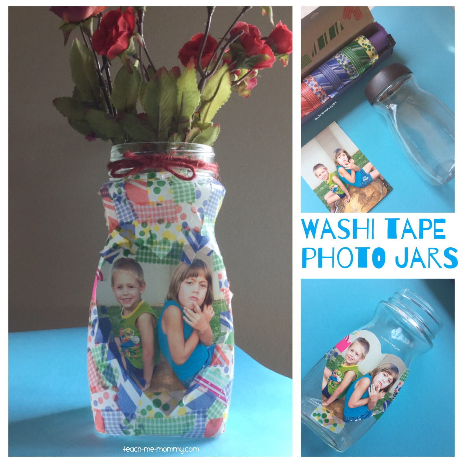 washi tape jars