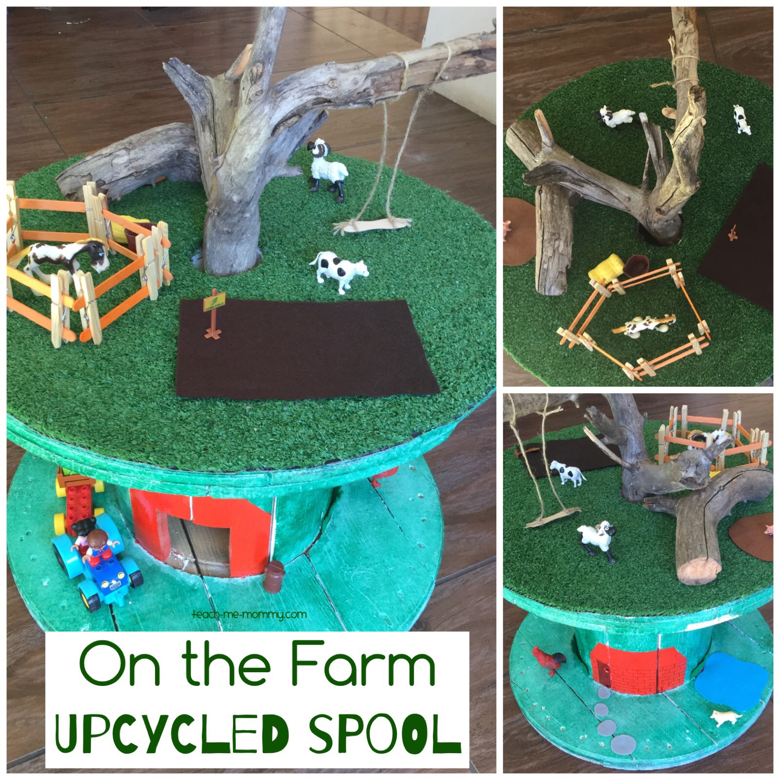 upcycled spool farm