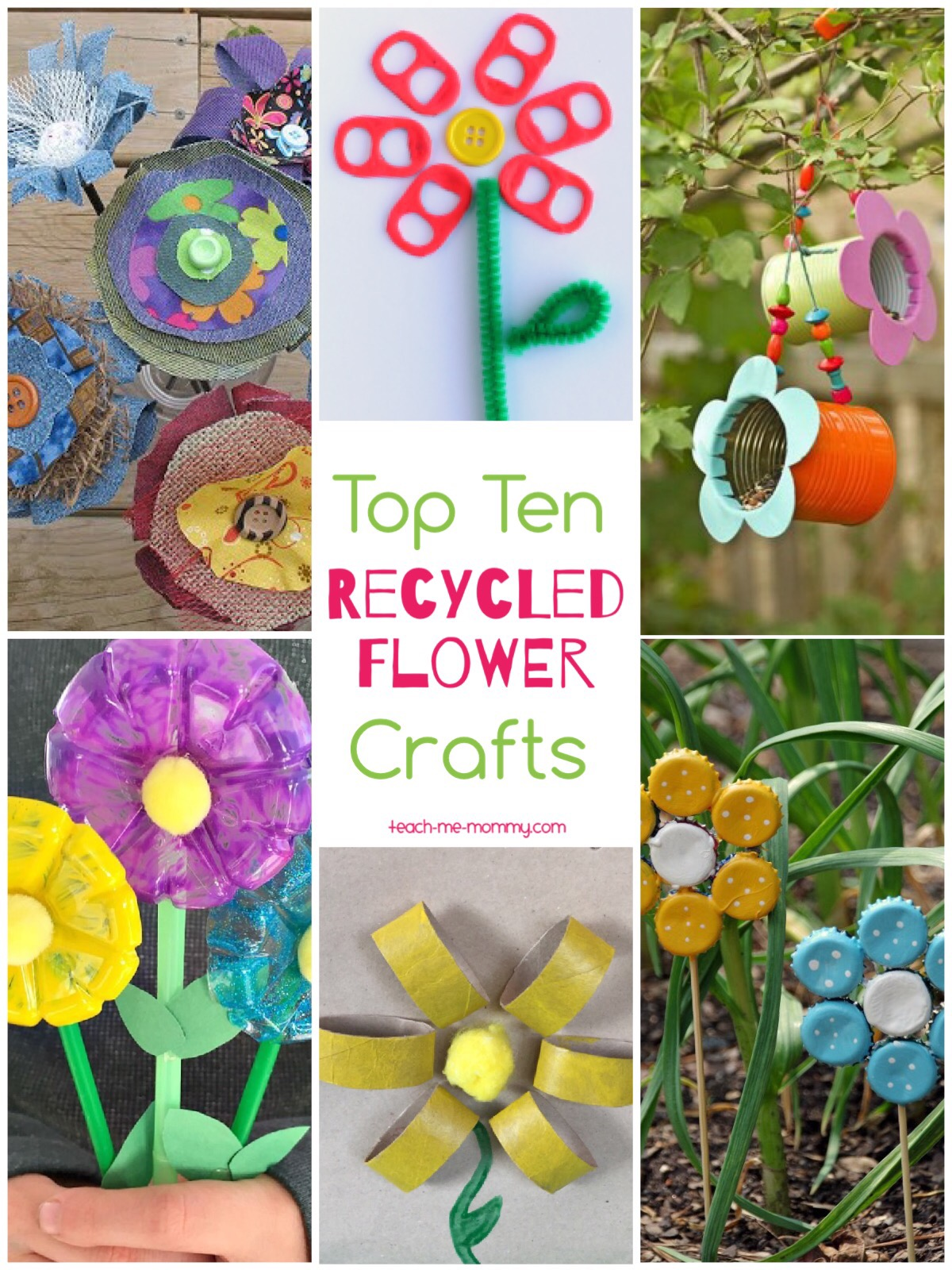 flower recycle crafts