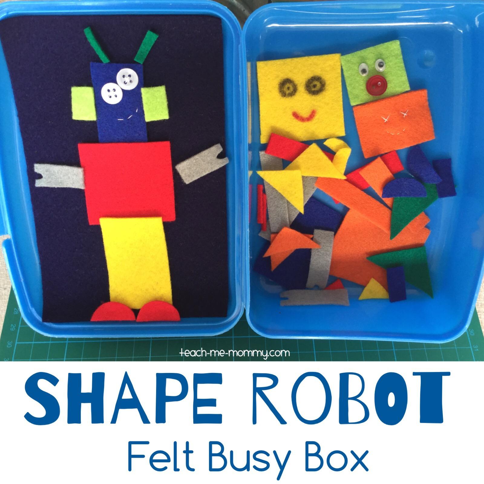 shape robot busy box