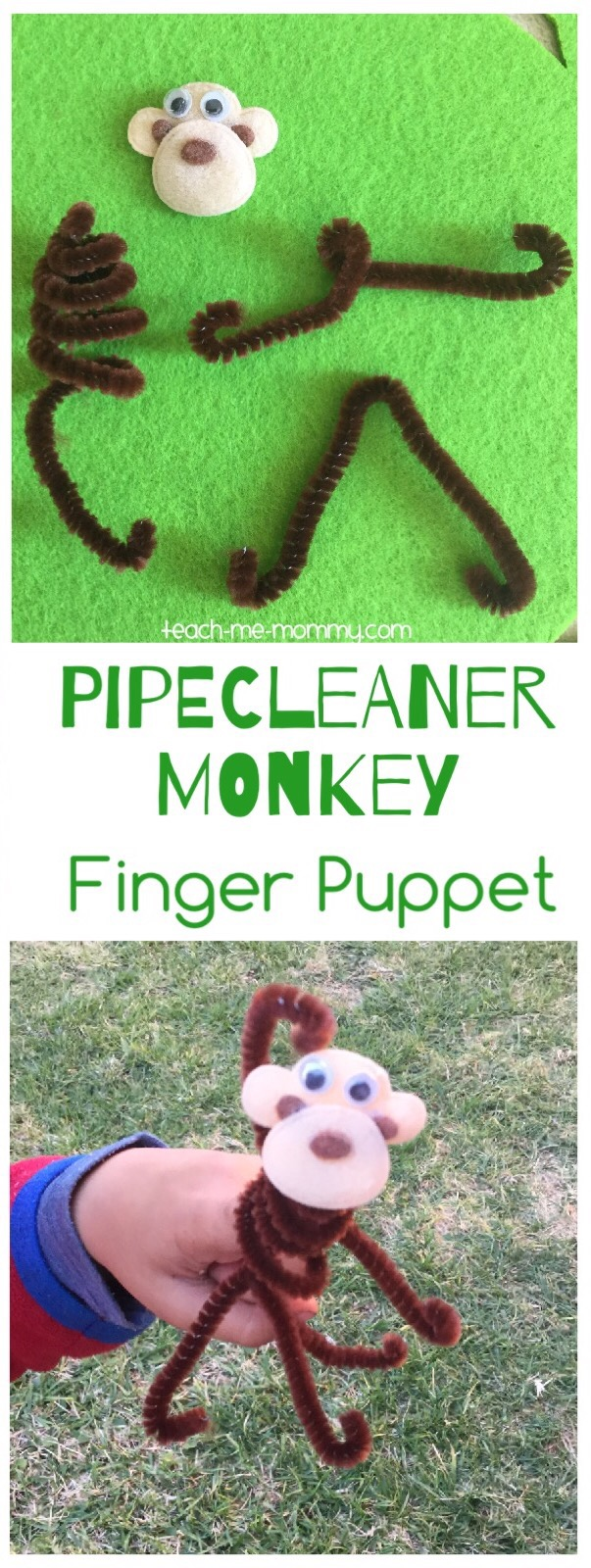 pipecleaner monkey puppet