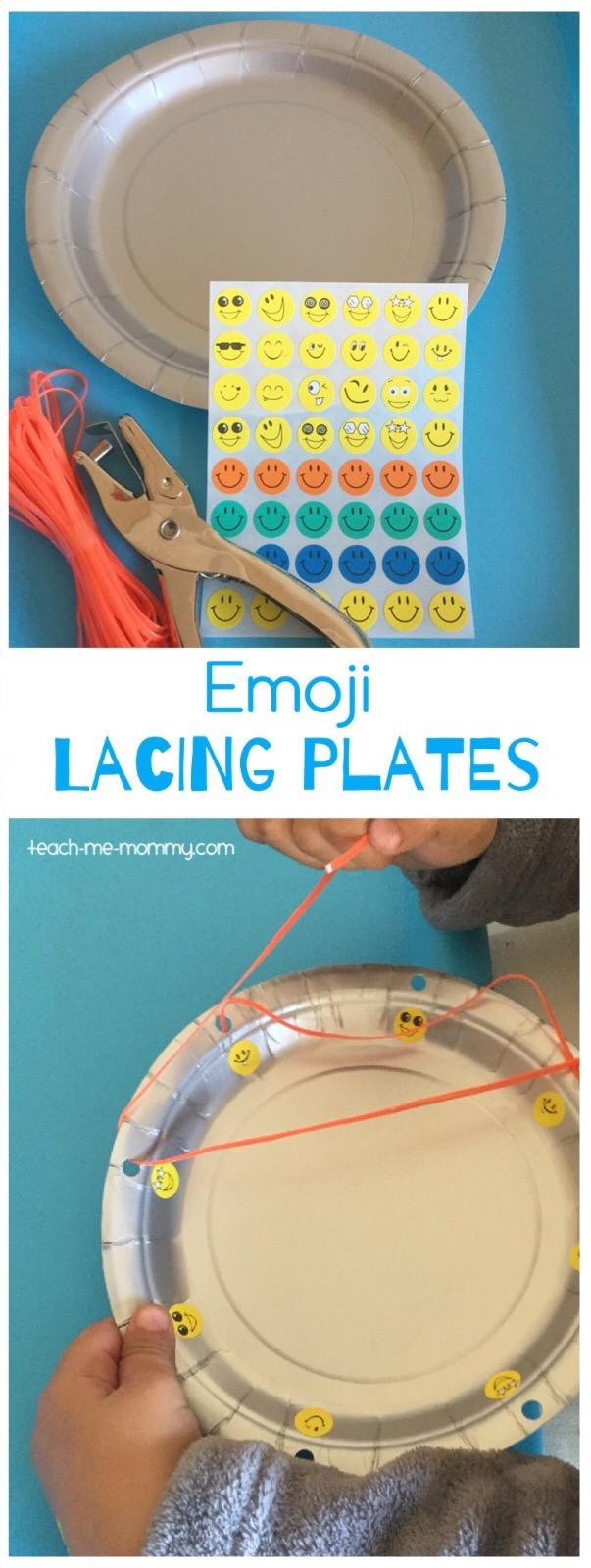 emoji lacing plates