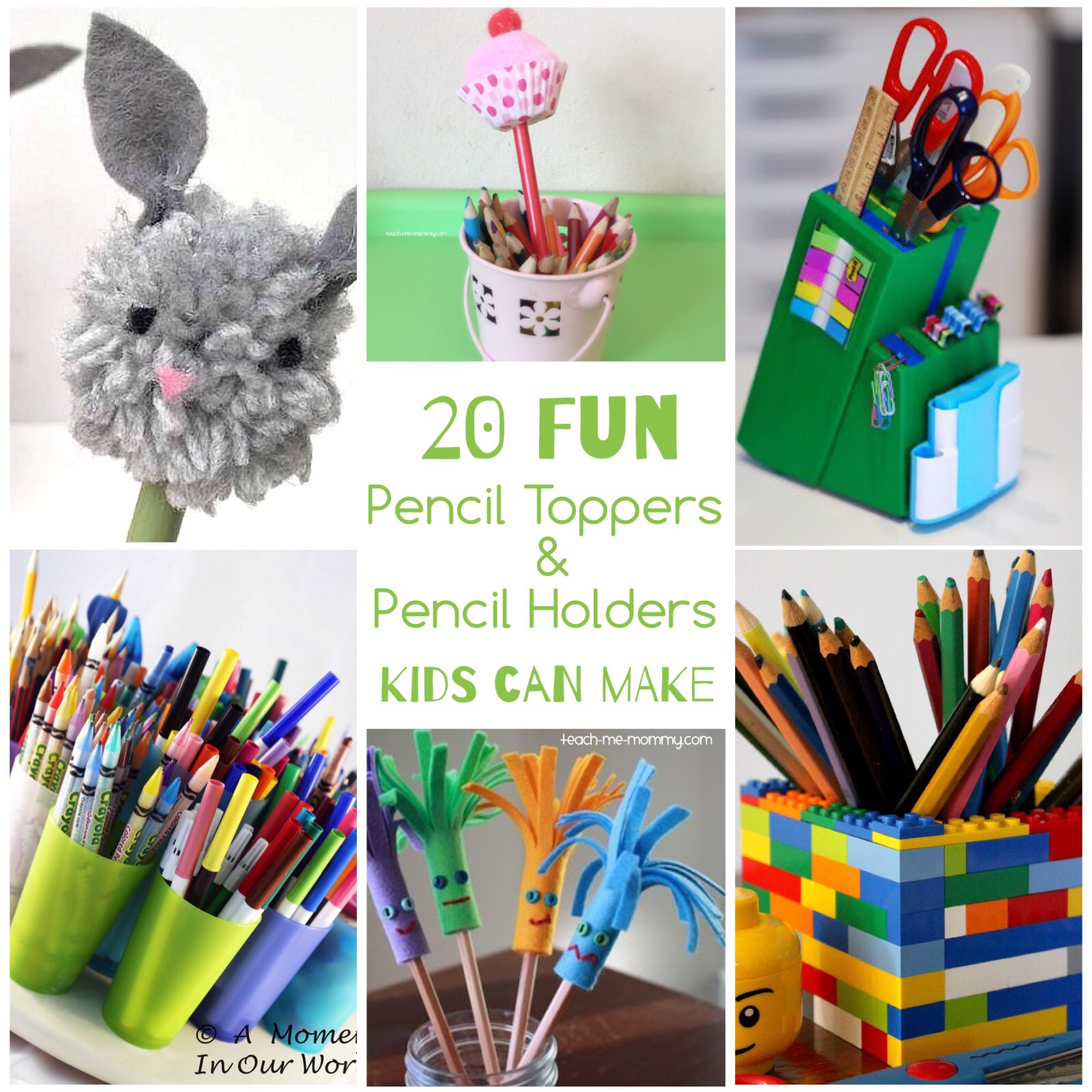 pencil toppers holders