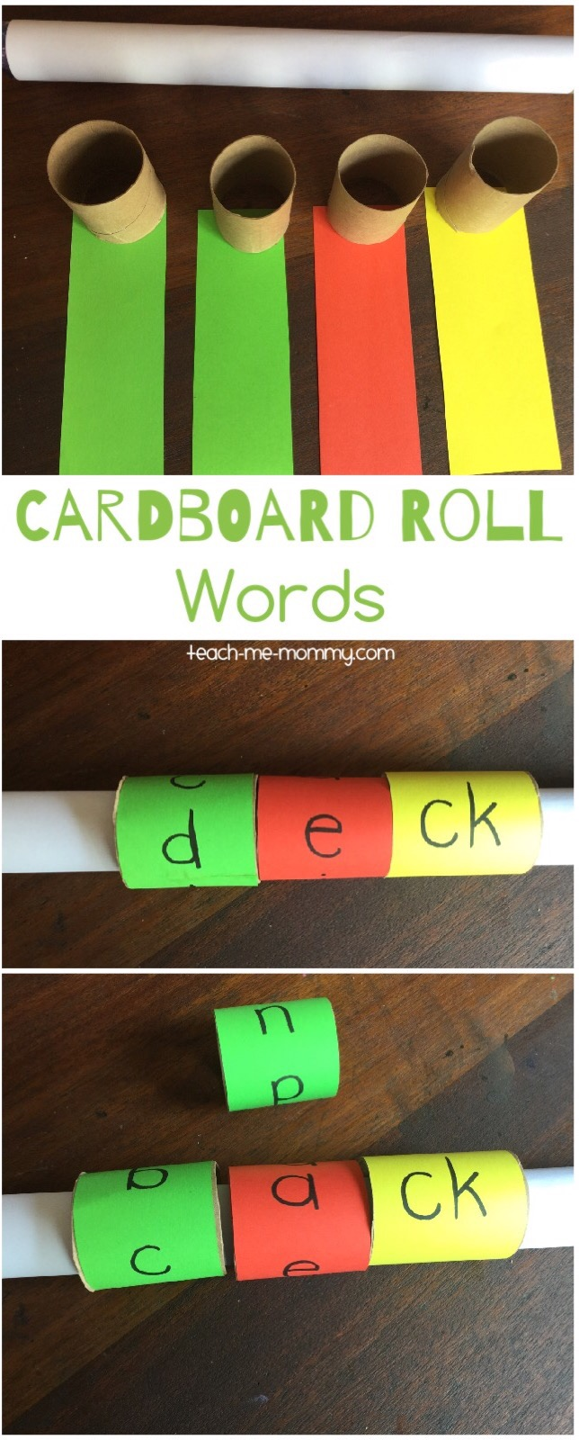 cardboard roll words