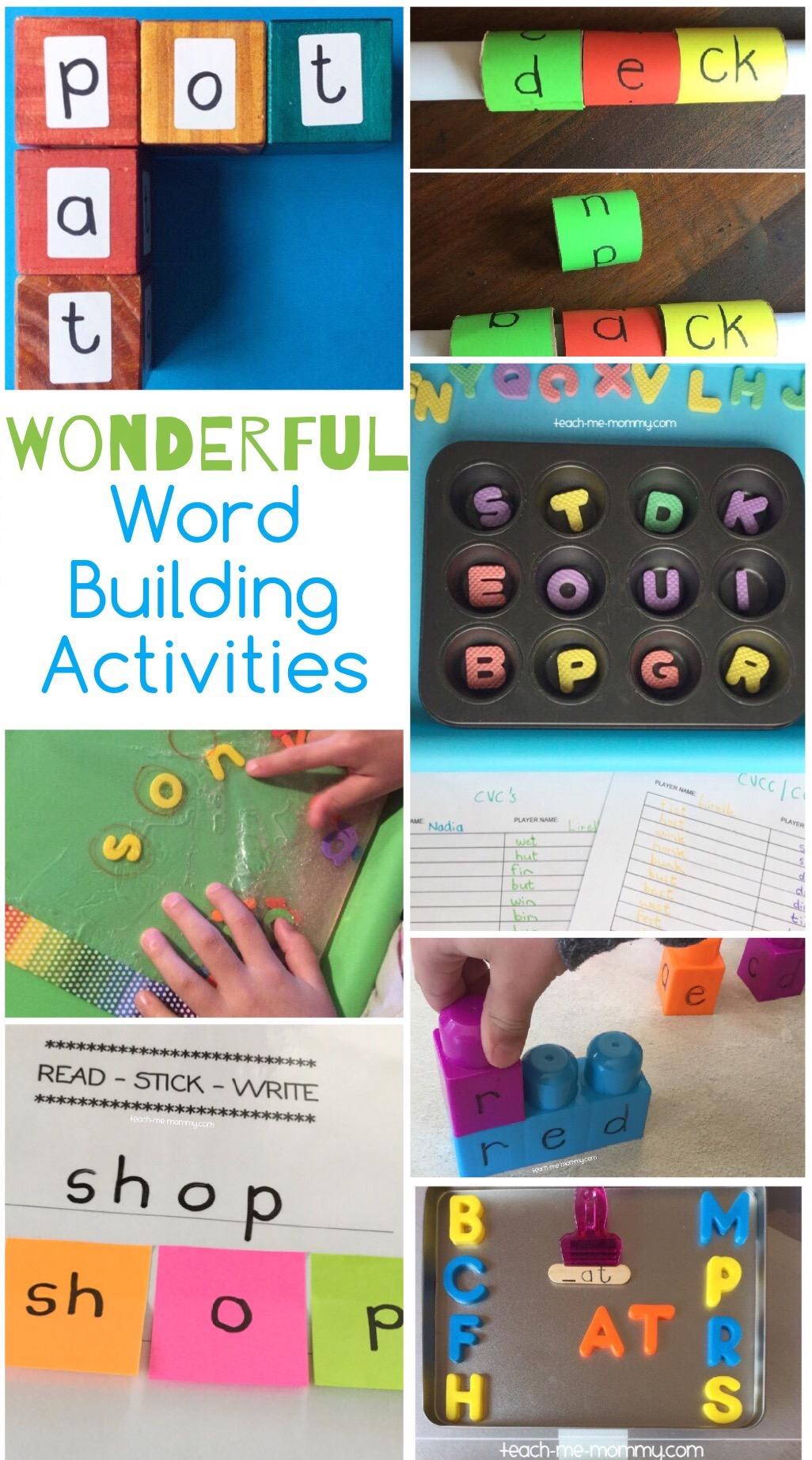 word building activities