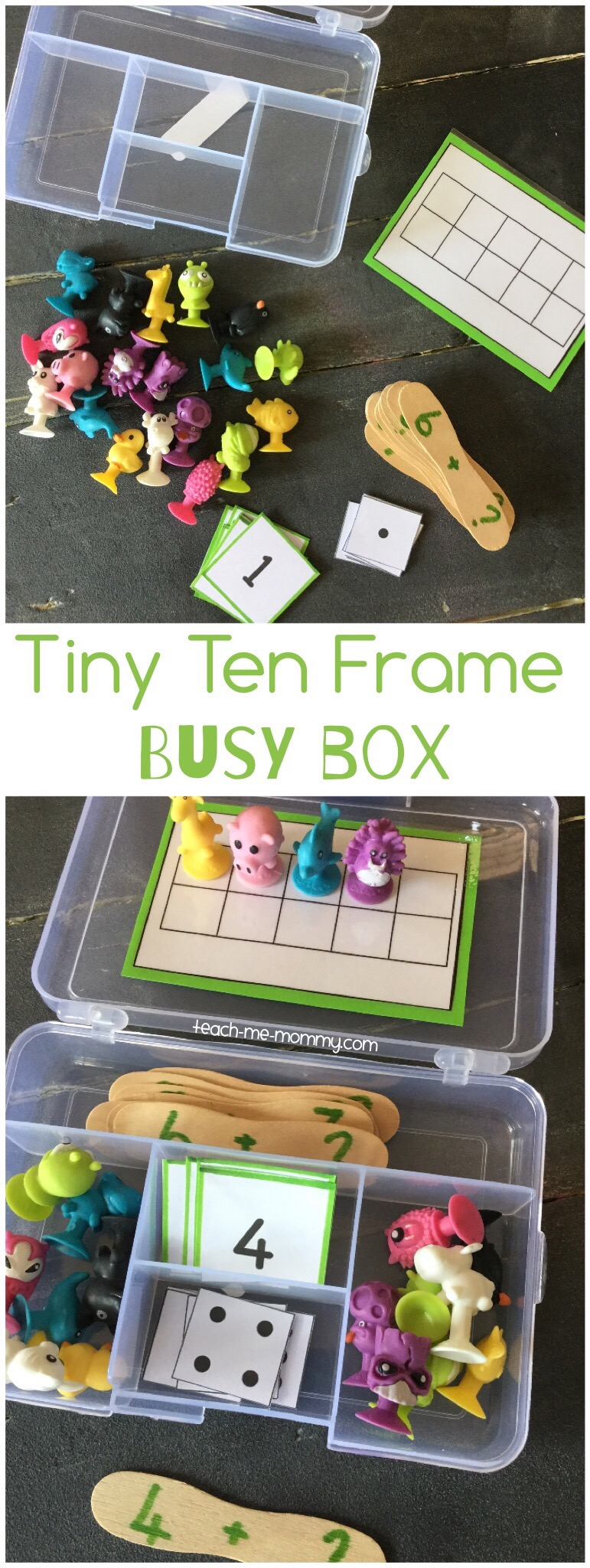 tiny ten frame busy box