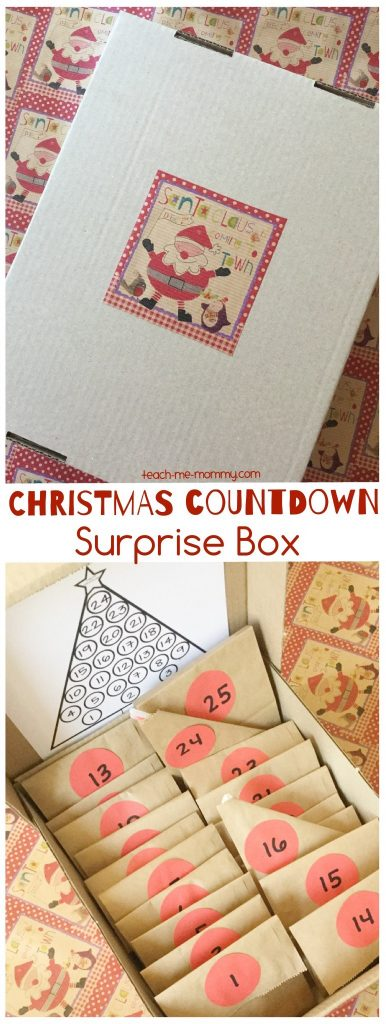 Countdown To Christmas Surprise Box Teach Me Mommy