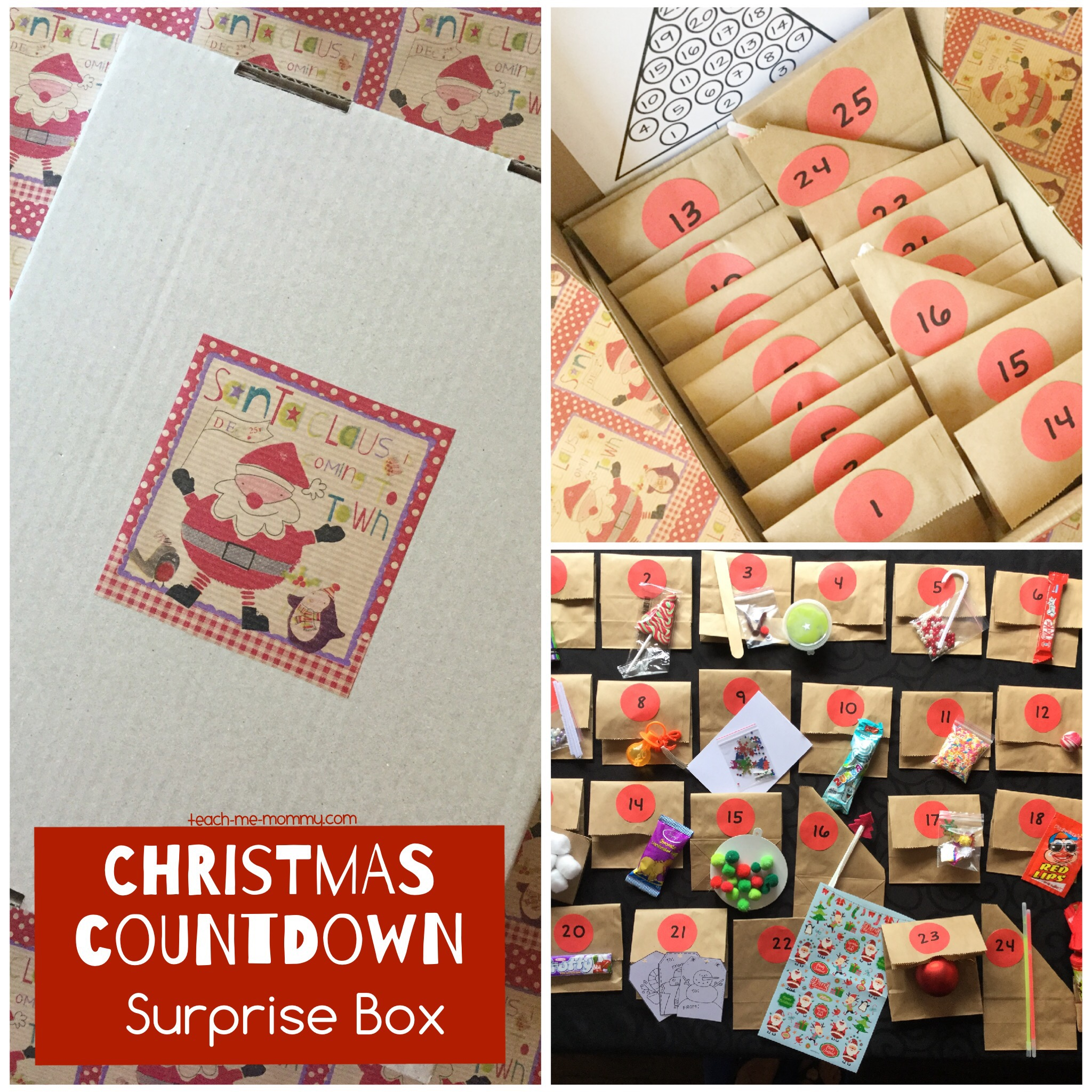 christmas countdown boxes