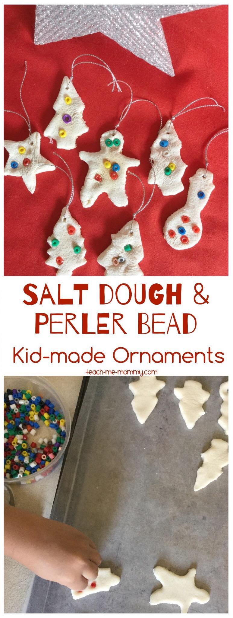 salt dough & perler beads ornaments