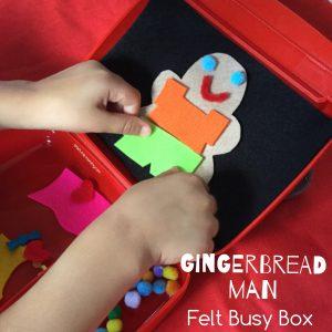 Gingerbread man box