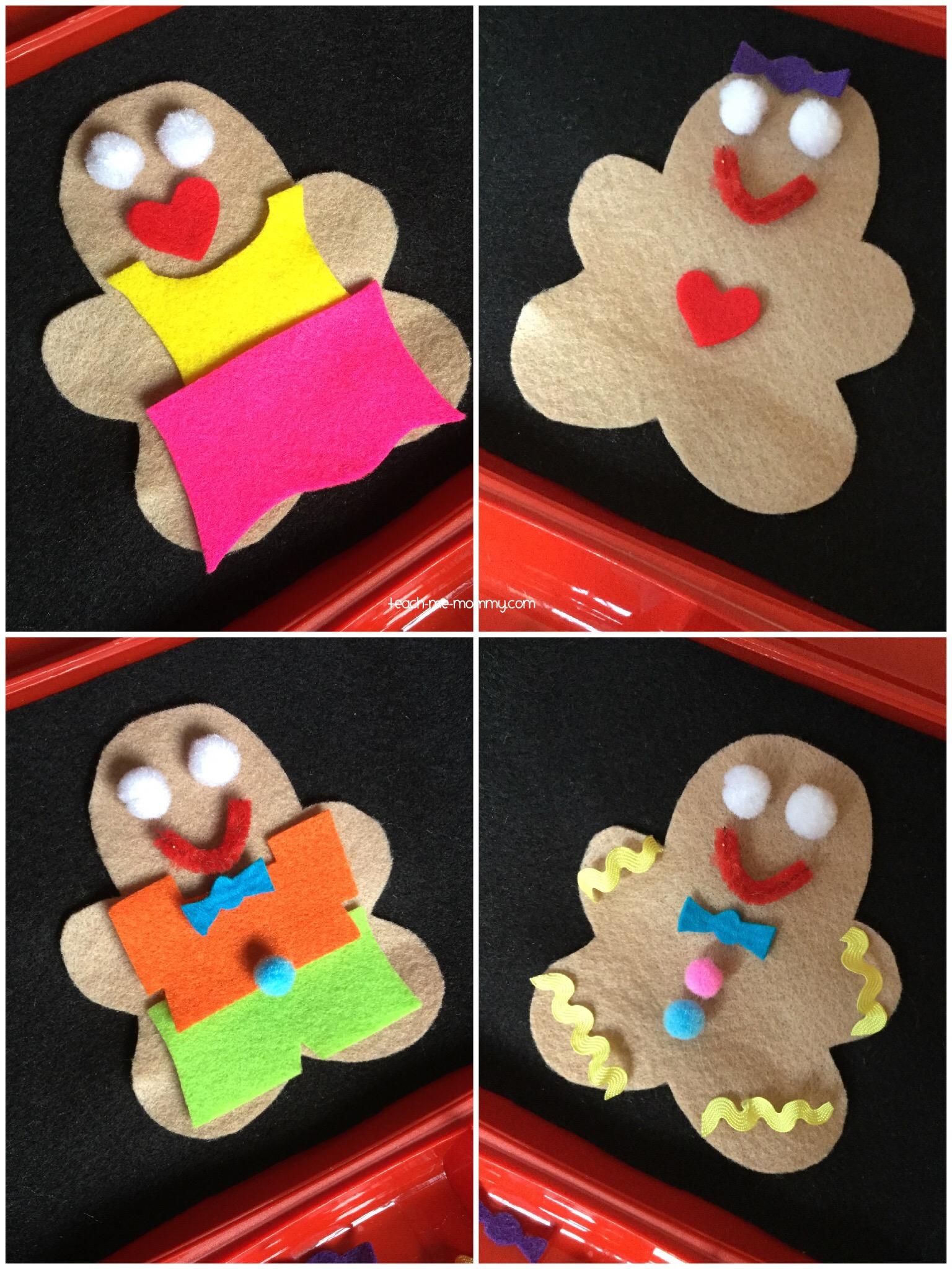 dress a gingerbread man