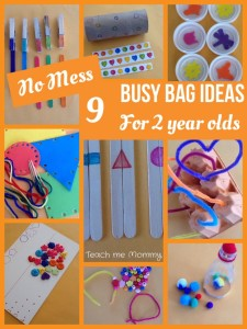 Busy bags for 2 yr olds