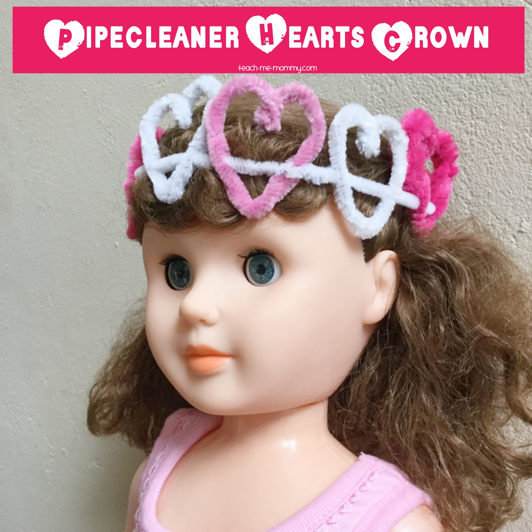 Pipecleaner Hearts Crown