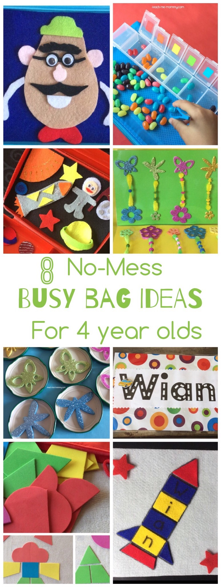 No-mess Busy bags for 4 year olds