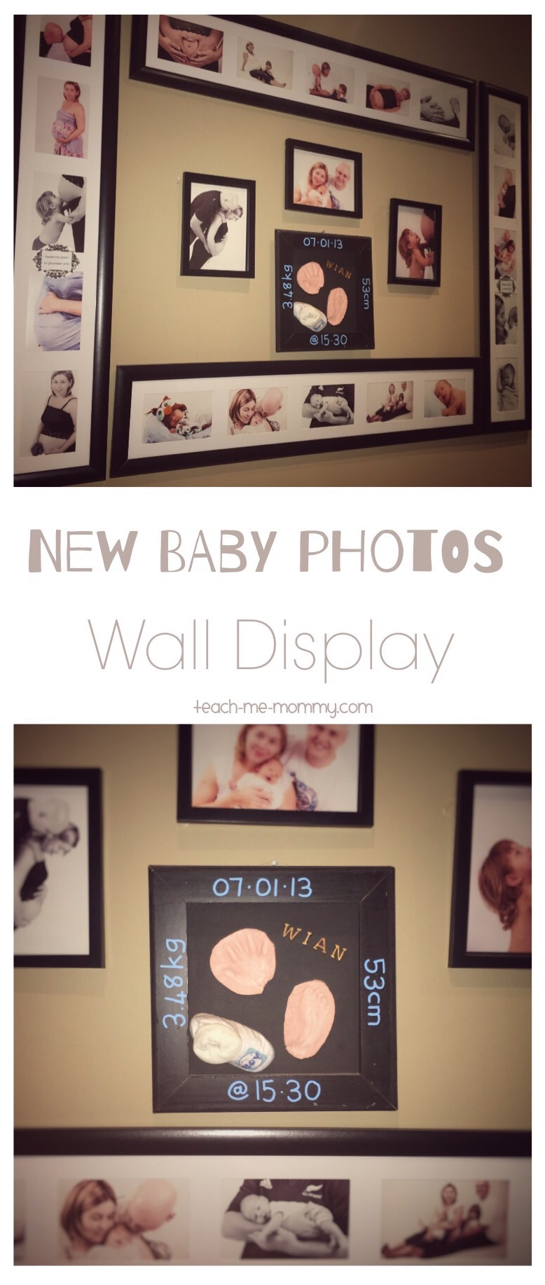 New Baby photo wall display