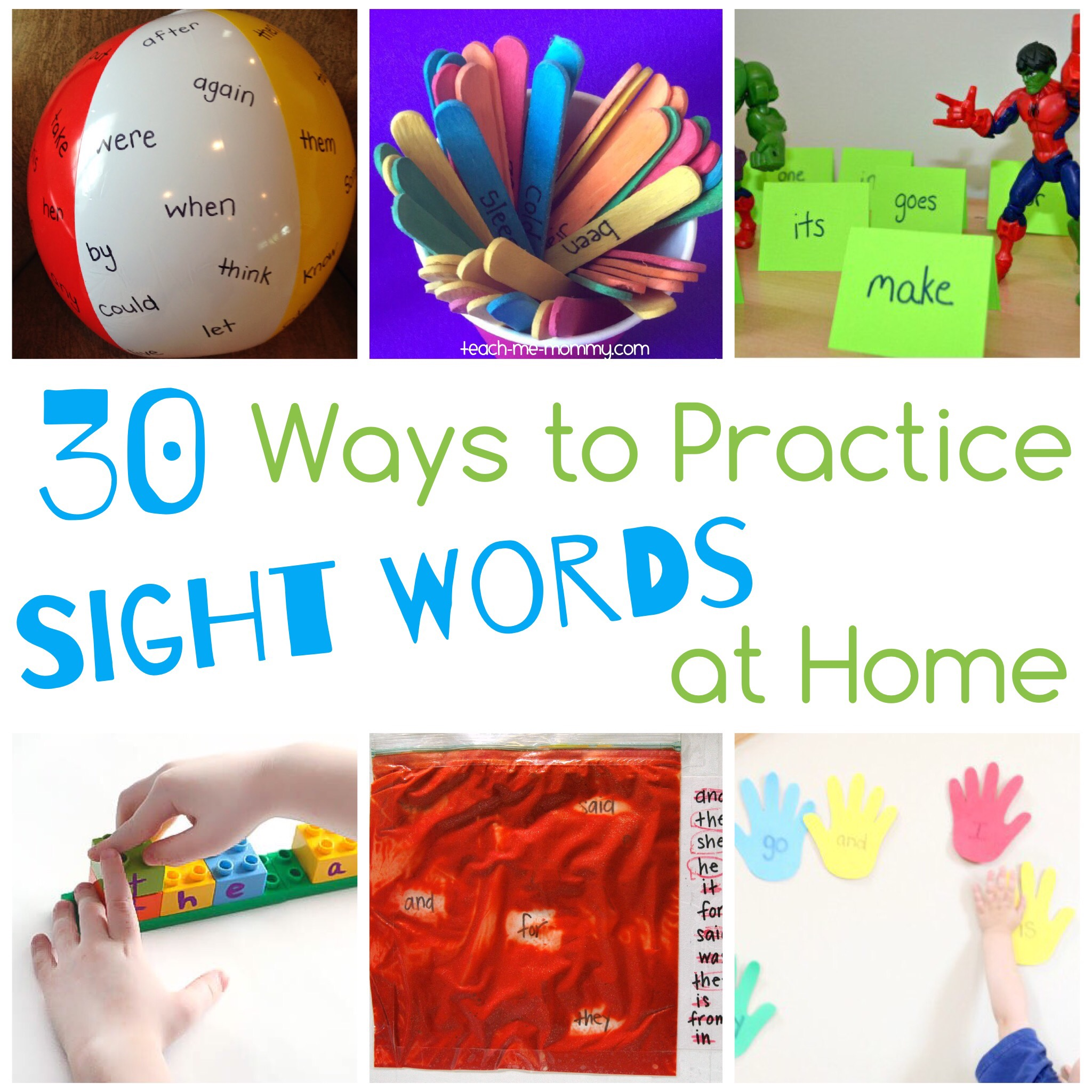 Ways to Practice sight words