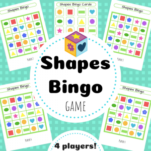 shapes bingo TpT