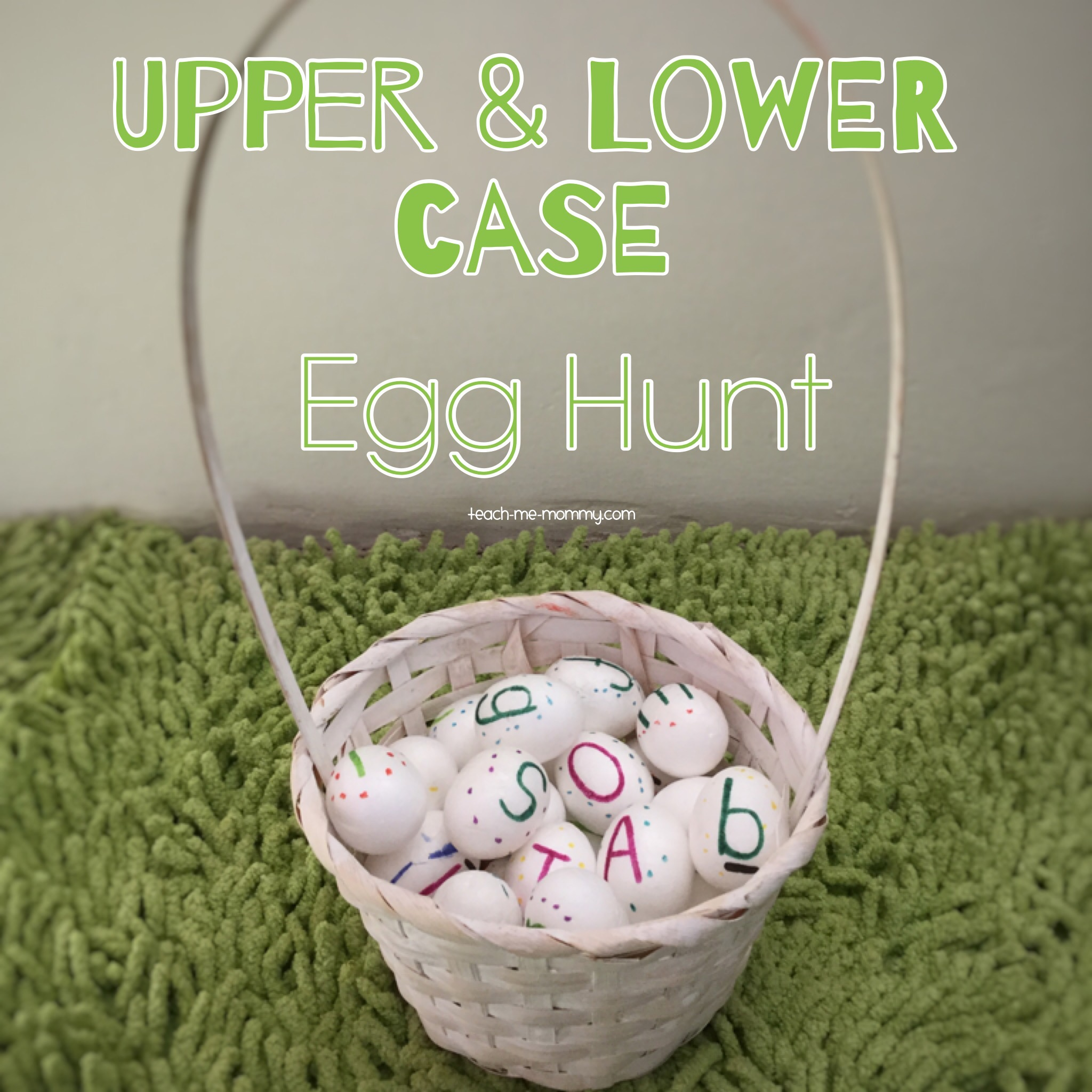 Upper and lower case egg hunt