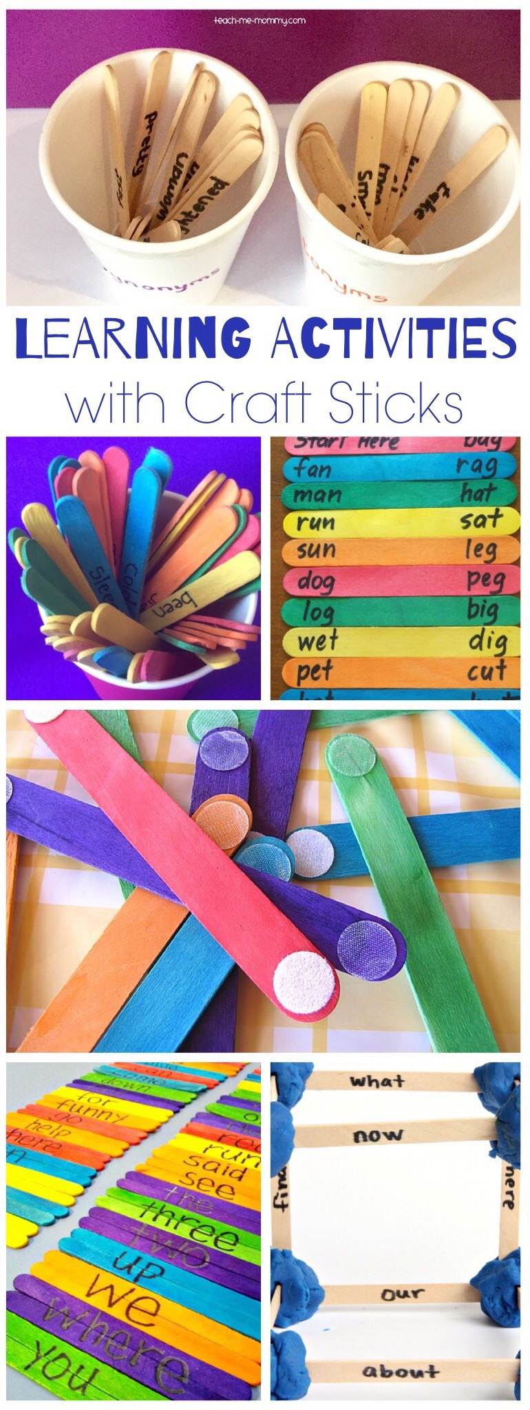 Learning Activities with craft sticks