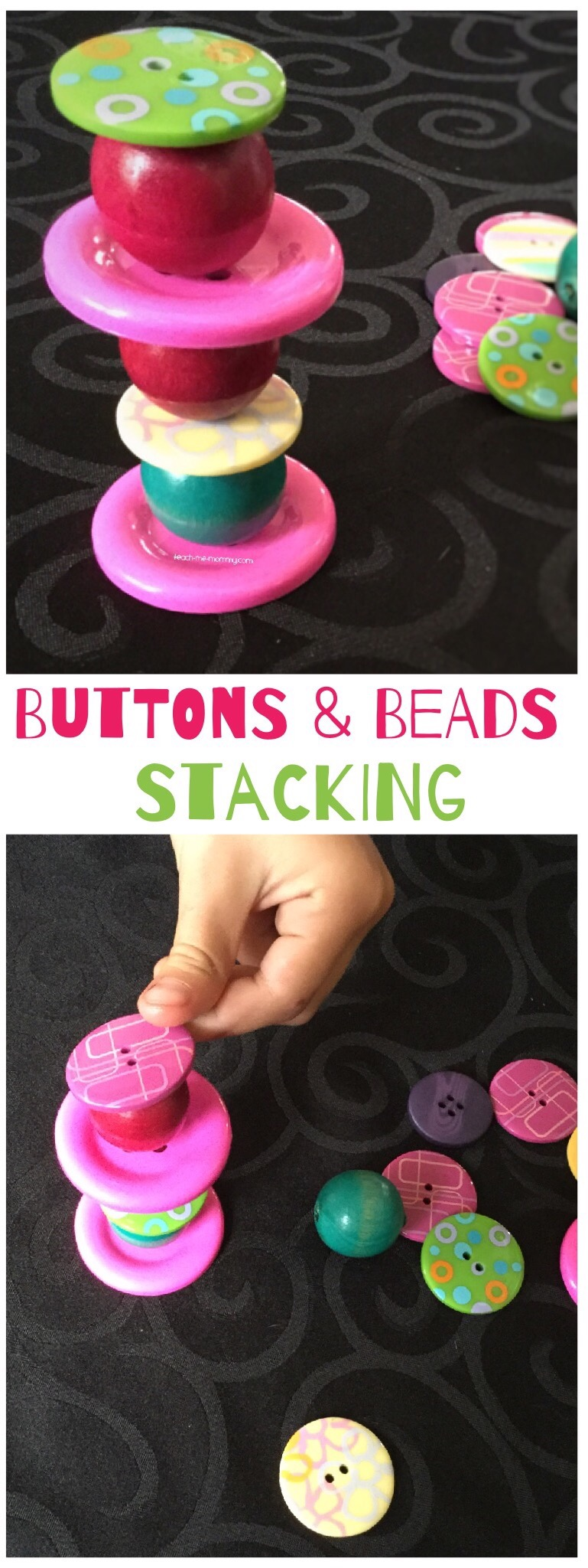 Buttons and Beads Stacking