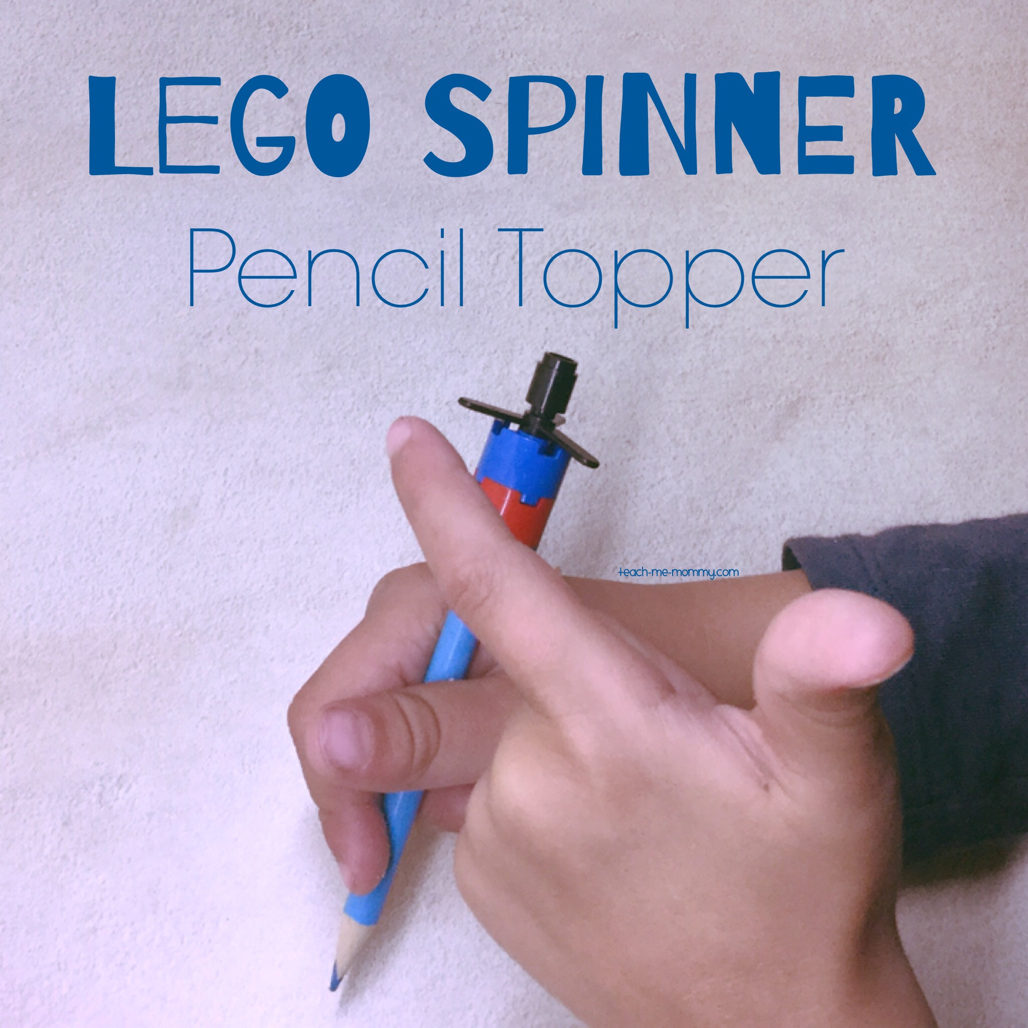 Spinner pencil topper