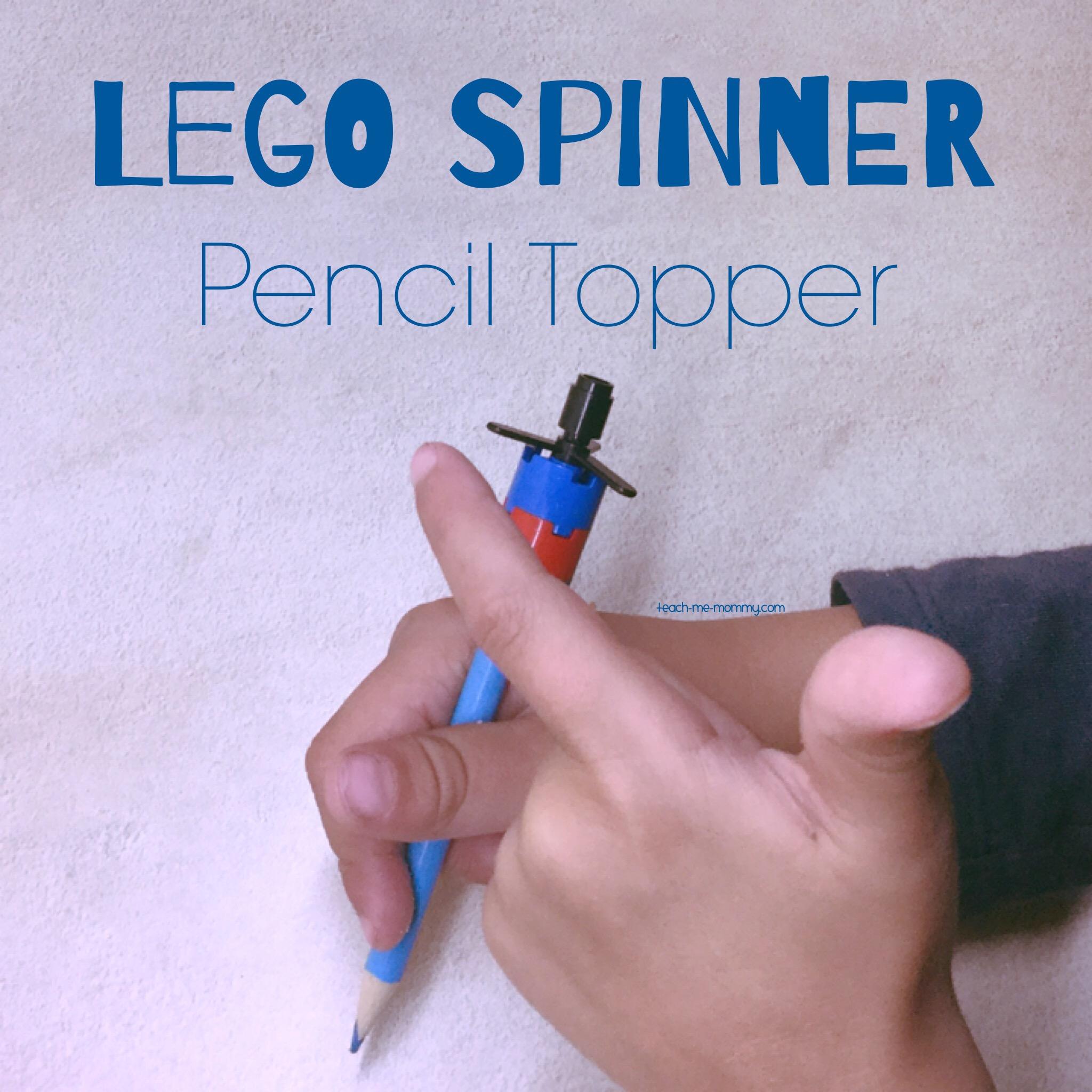 Spinner pencil topper