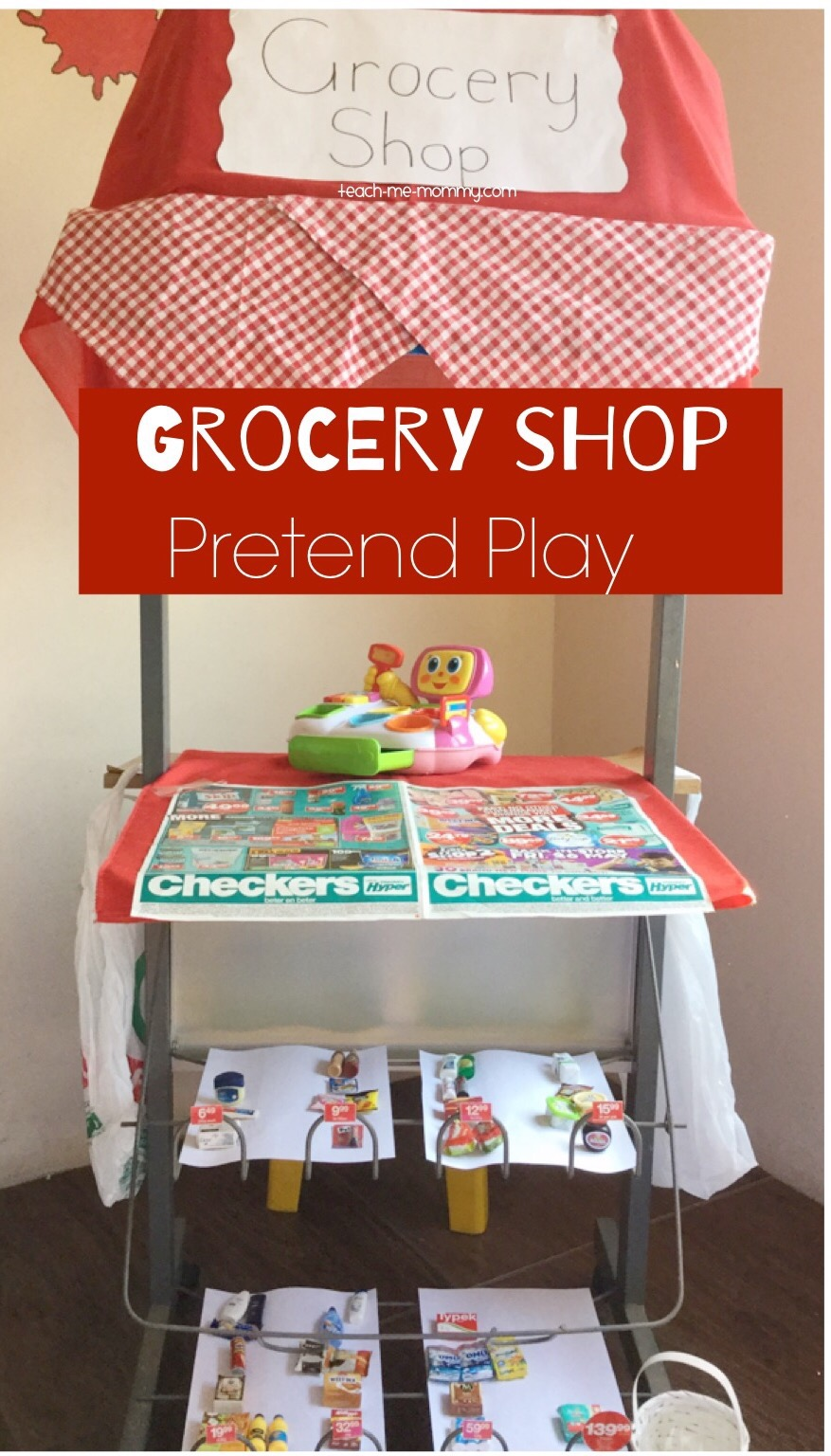 Grocery store pretend play