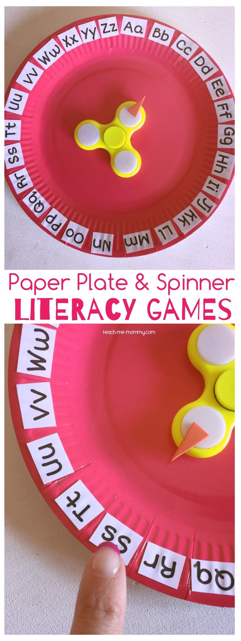 Paper Plate and spinner games