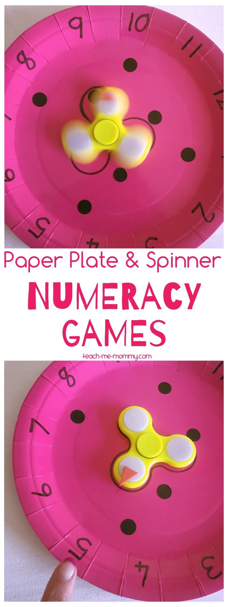 Plate & spinner numeracy games