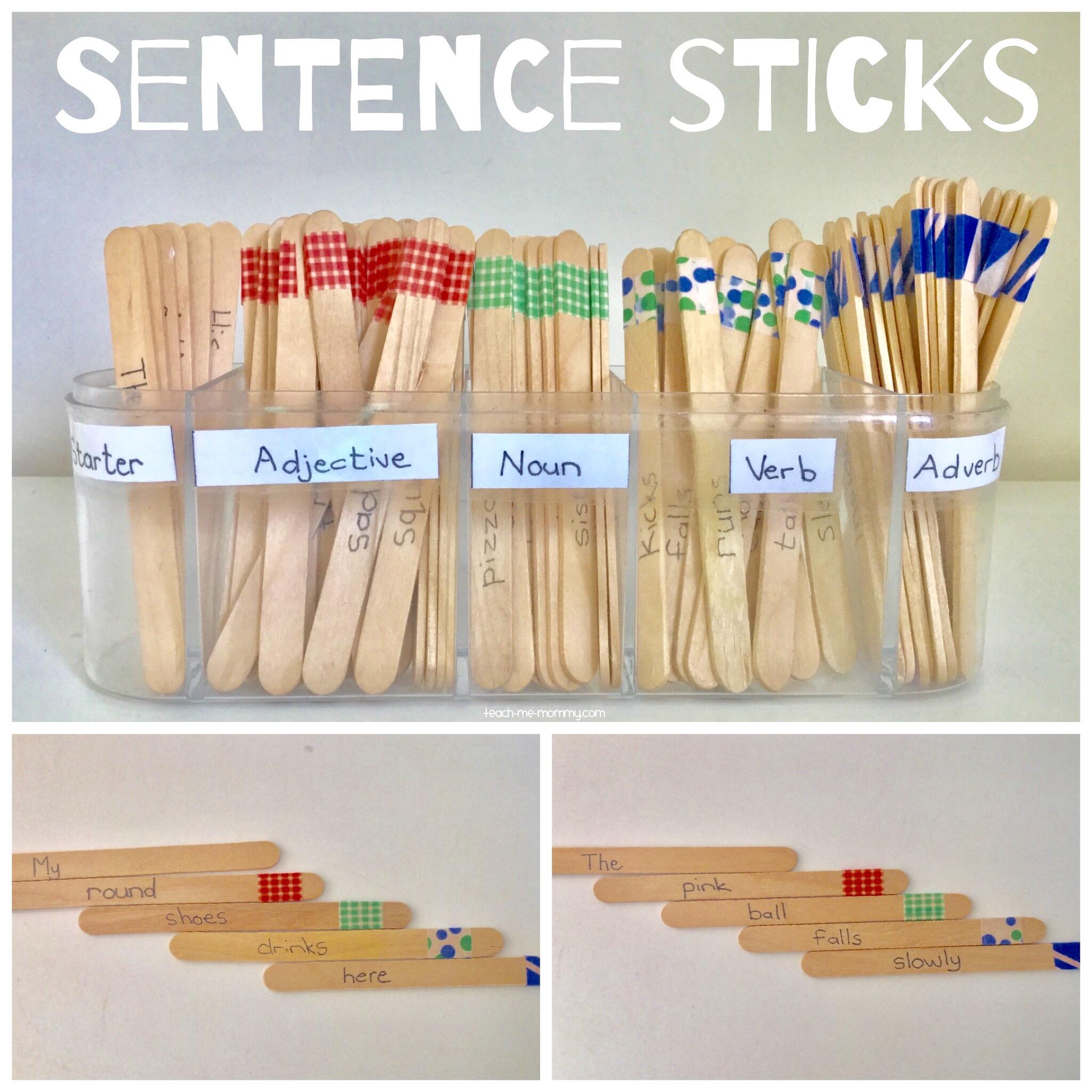 Sentence sticks