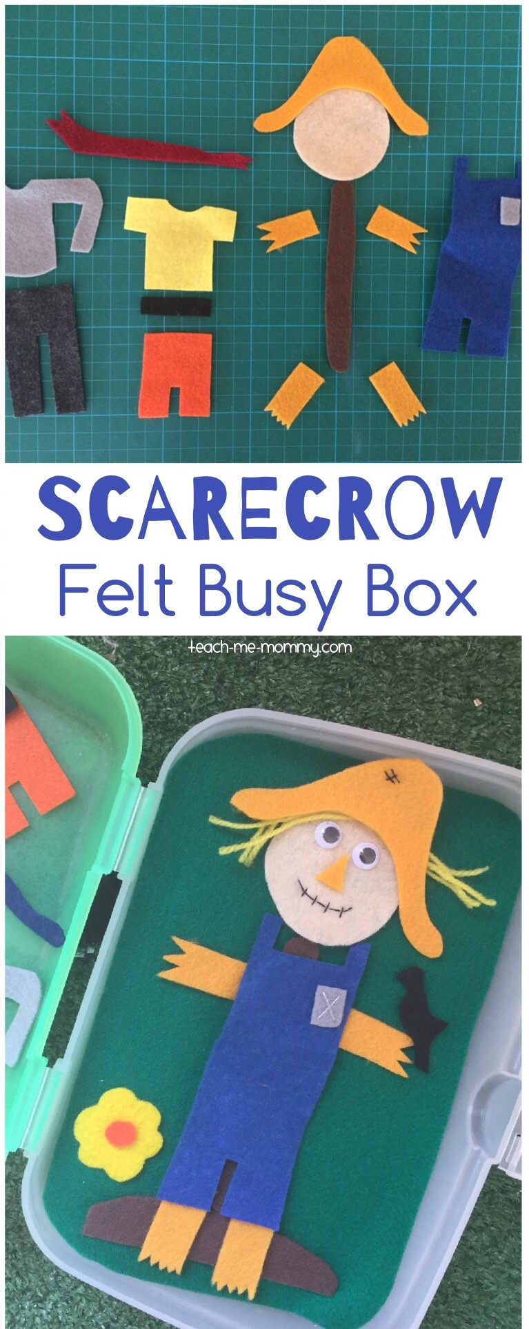 Scarecrow felt busy box