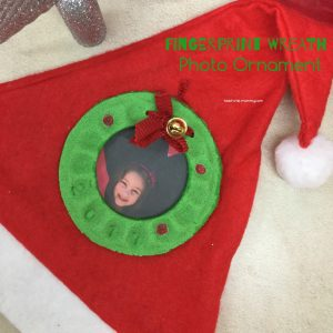 Fingerprint wreath ornament