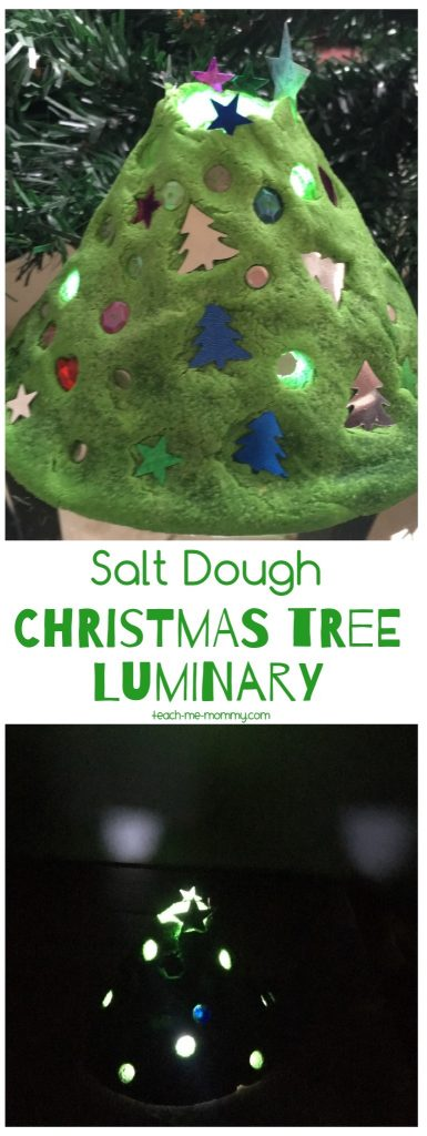 Christmas tree luminary