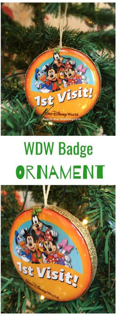 Disney badge ornament