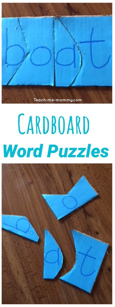 Cardboard word Puzzles