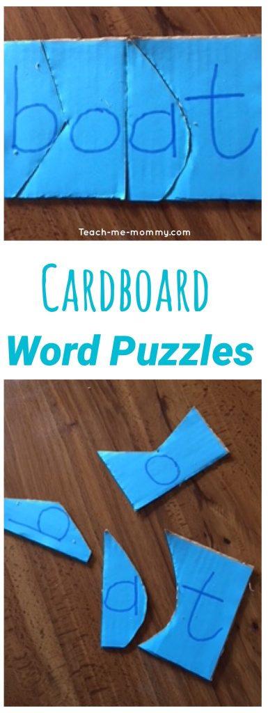Cardboard word Puzzles