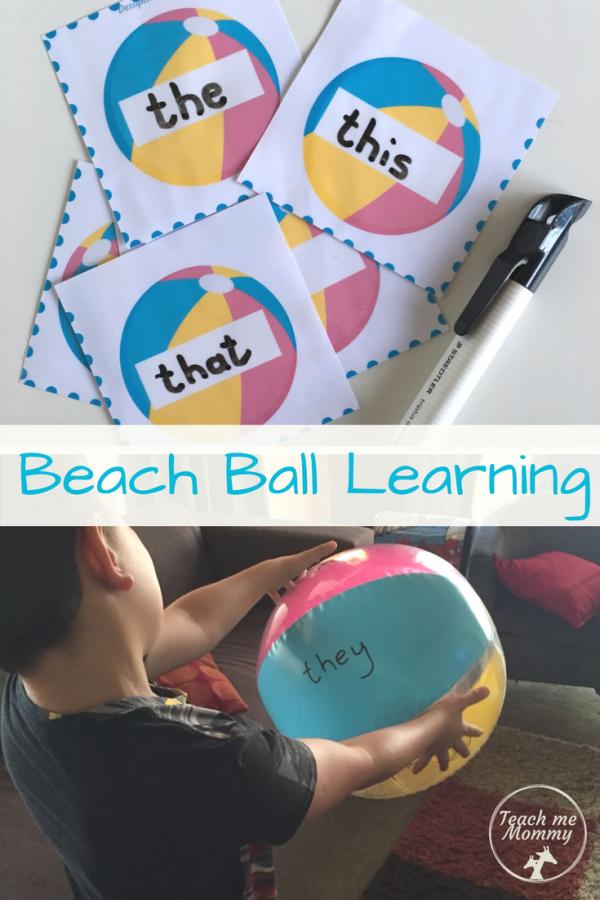 Beach ball Learning