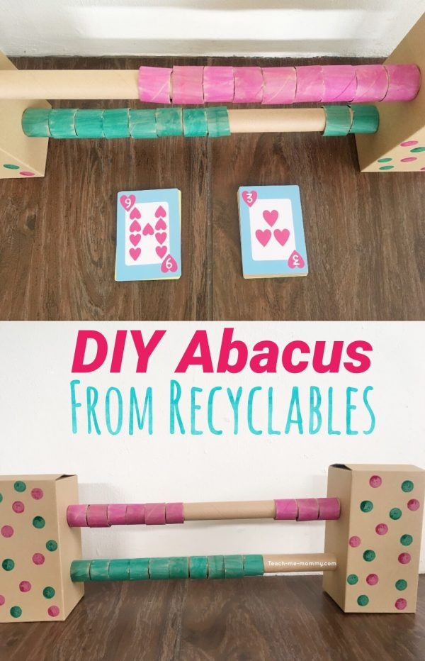 Abacus from recyclables