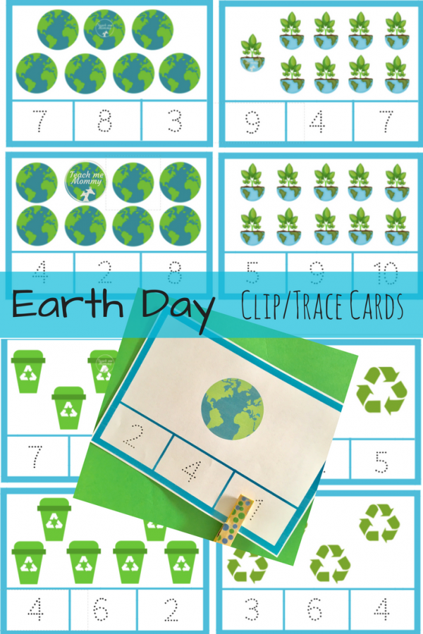 Earth Day clip cards
