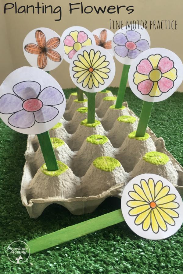Planting Flowers pin