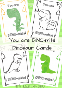 Dinosaur Cards collage