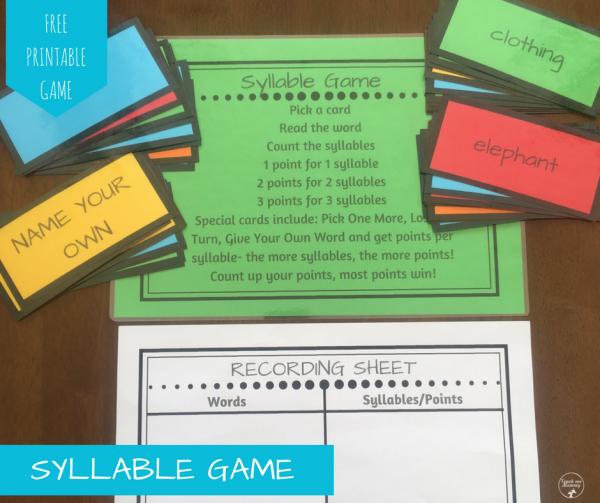 Syllable game