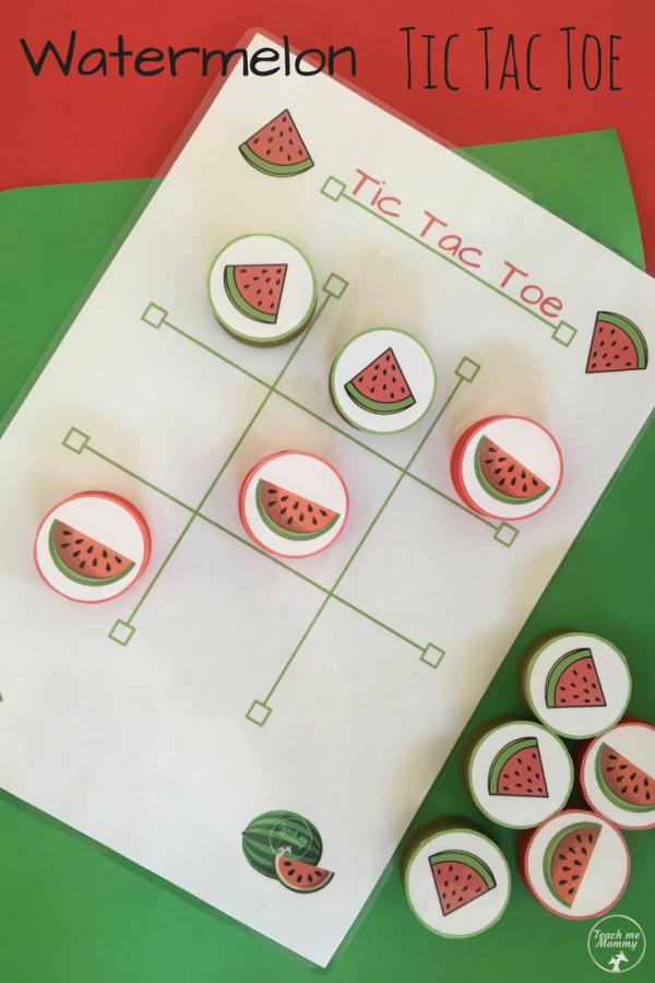Watermelon Tic Tac Toe