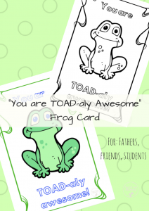frog card collage