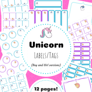 unicorn labels