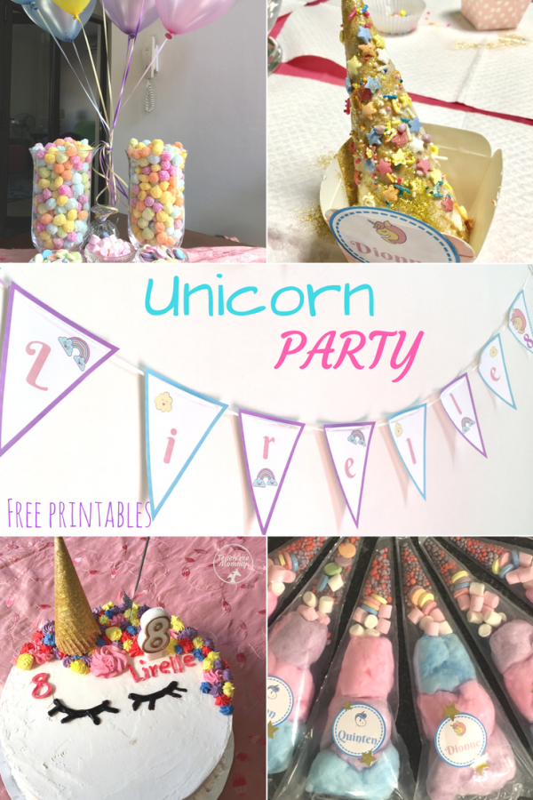 Unicorn party pin