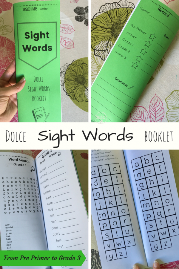 Sight Words booklet pin