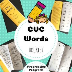 CVC words booklet TpT